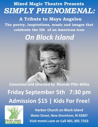 Maya on Block Island Poster